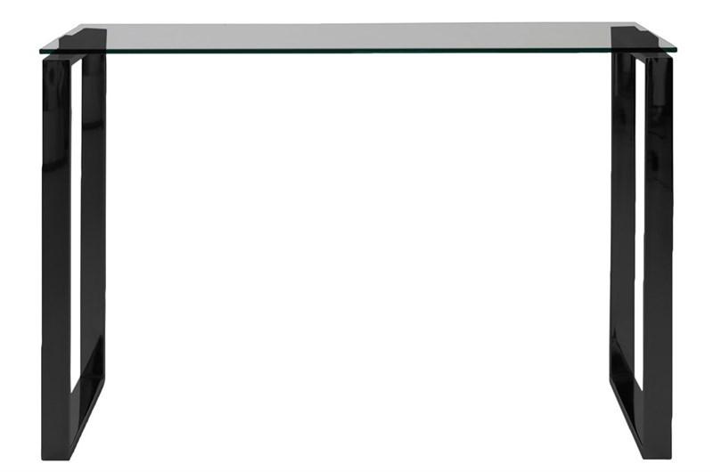 Jídelní / odkládací stůl Tracy, 110 cm, kouřové sklo/černá