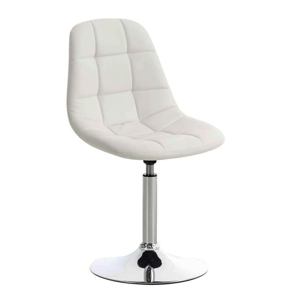 Jídelní otočná židle Miley kůže bílá
