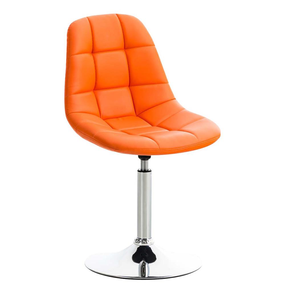Jídelní otočná židle Miley kůže oranžová