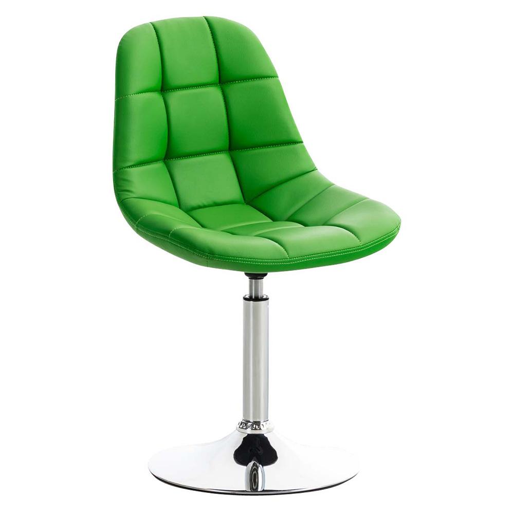Jídelní otočná židle Miley kůže zelená