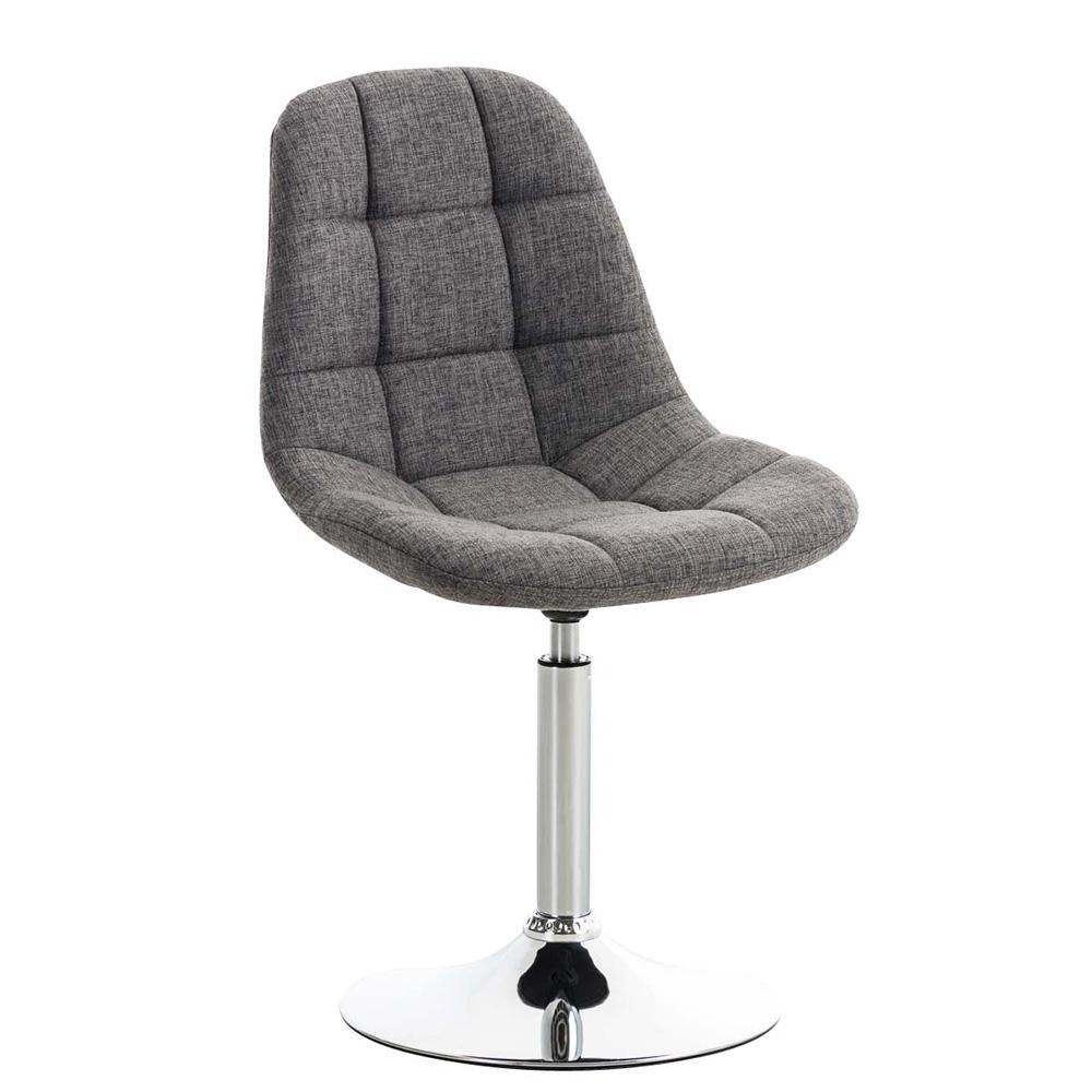 Jídelní otočná židle Miley textil tmavě šedá