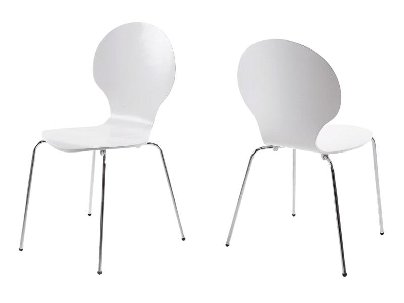 Jídelní překližková židle Line (SET 4 ks) bílá