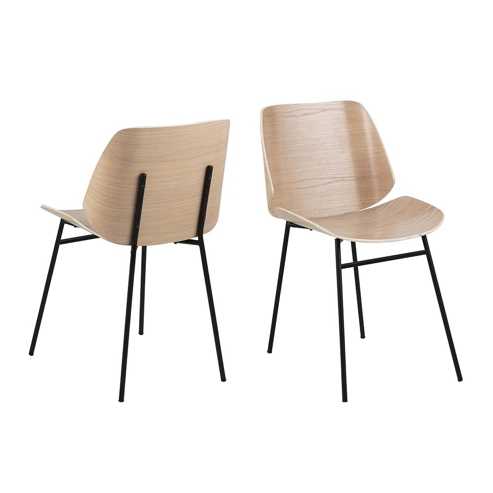 Jídelní překližková židle Smuk (SET 2 ks)