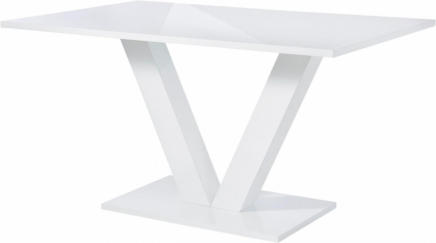 Jídelní stůl Alle, 140 cm, bílá