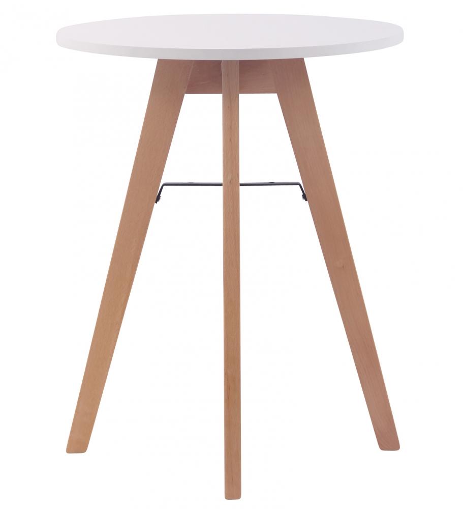 Jídelní stůl Alter, ? 60 cm, přírodní dřevo / bílá