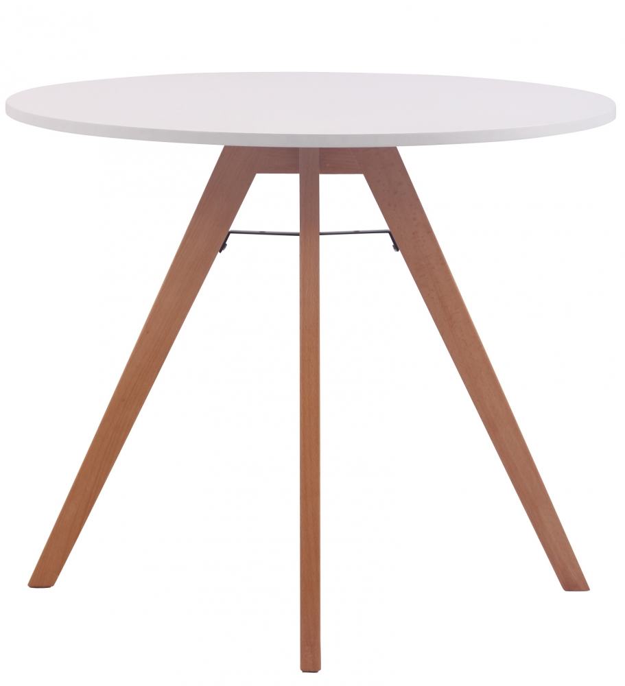 Jídelní stůl Alter, 90 cm, přírodní dřevo / bílá