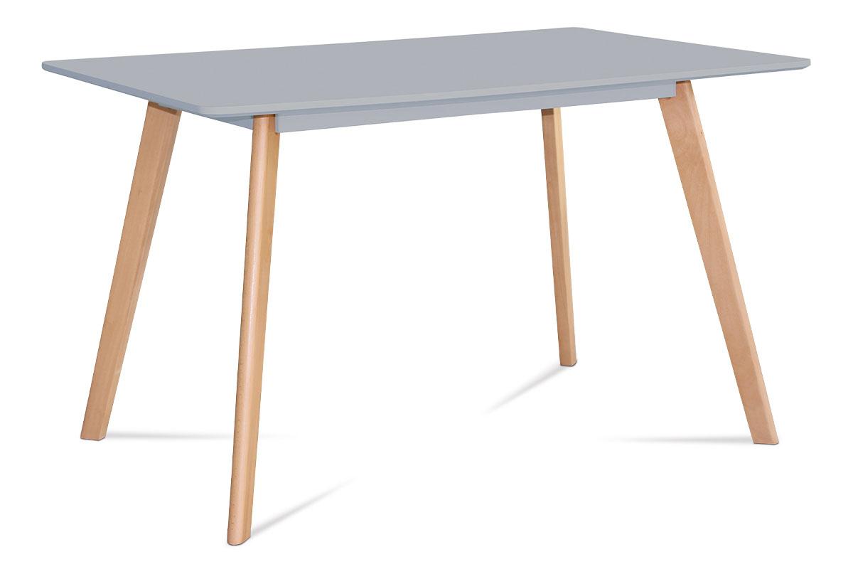 Jídelní stůl Anetta, 120 cm, šedá/buk
