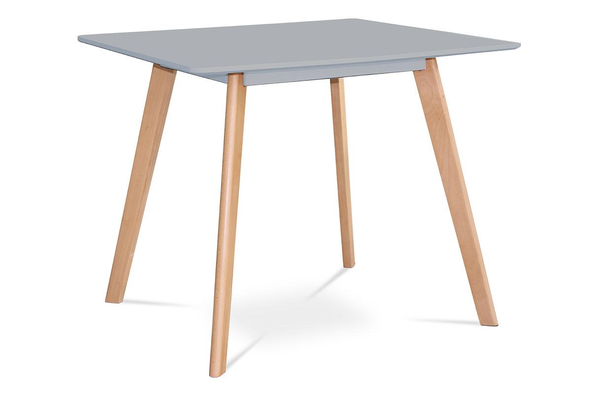 Jídelní stůl Anetta, 80 cm, šedá/buk