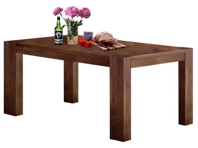 Jídelní stůl Asiha, 180 cm, hnědá