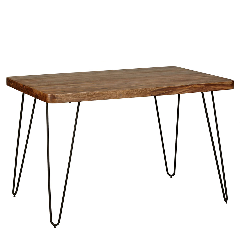 Jídelní stůl Bagli, 120 cm, masiv Sheesham