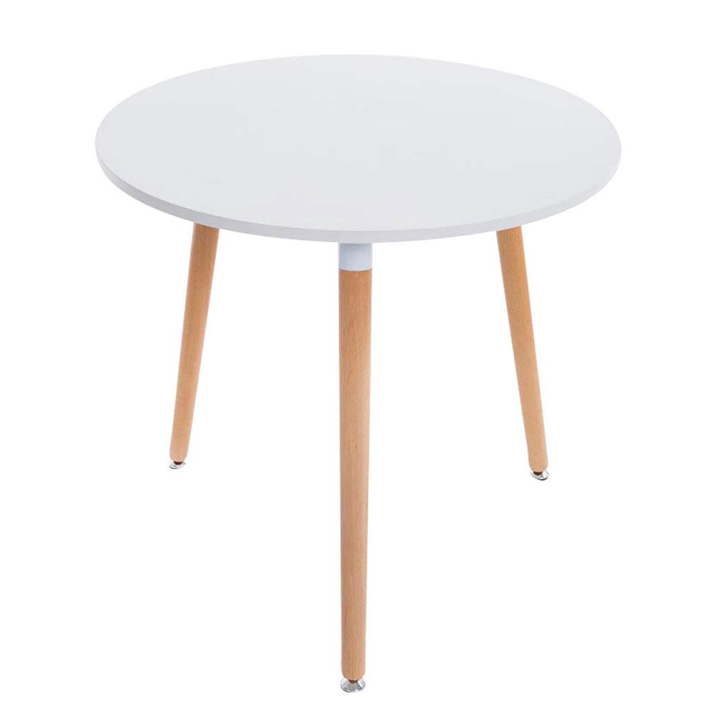 Jídelní stůl Benet kulatý, 80 cm, nohy přírodní