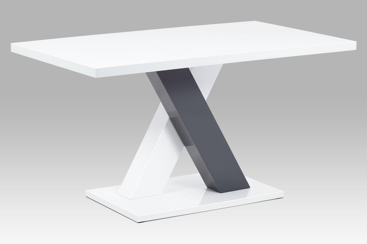 Jídelní stůl Benjamin, 140 cm, bílá/šedá