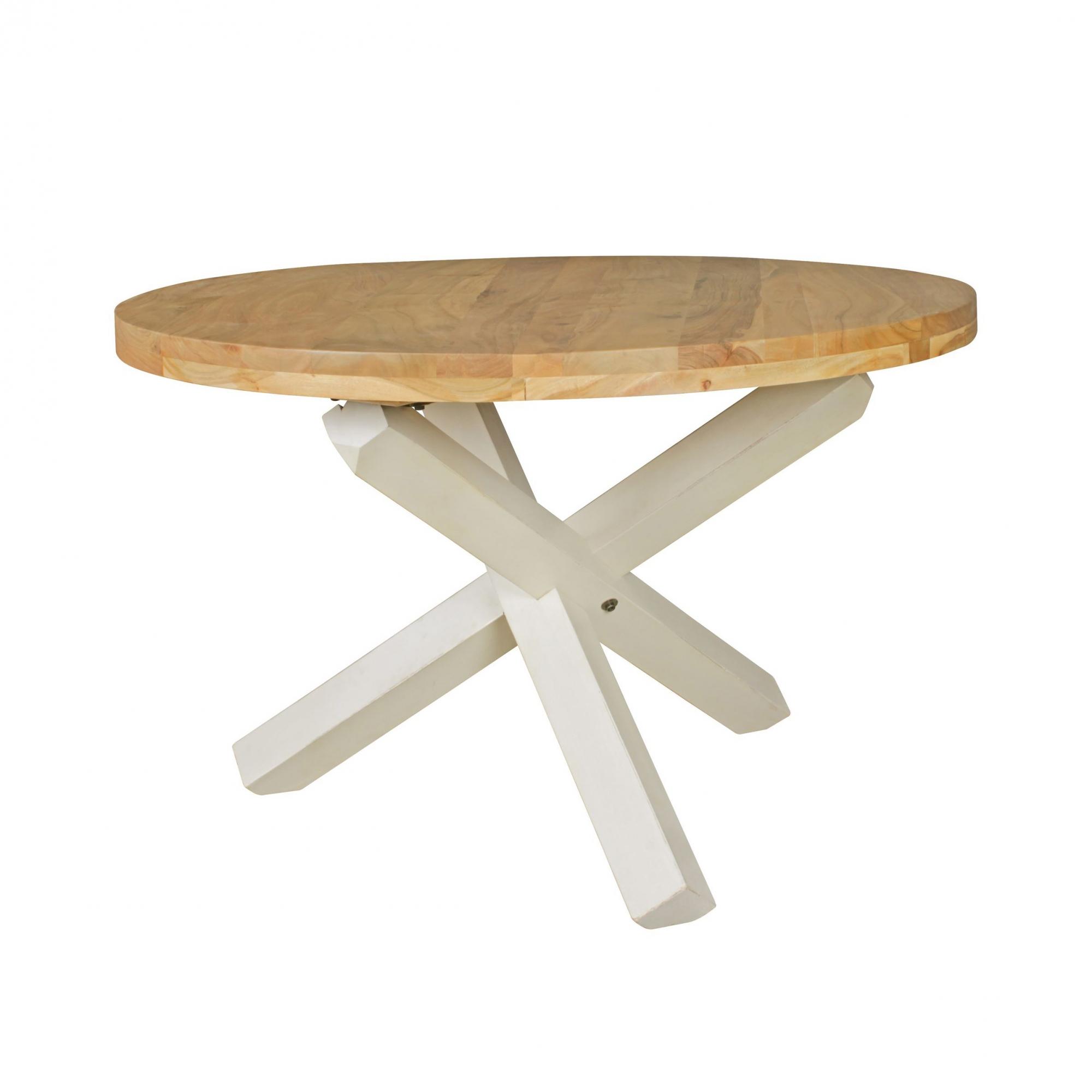 Jídelní stůl Boha kulatý, 120 cm, masiv akát