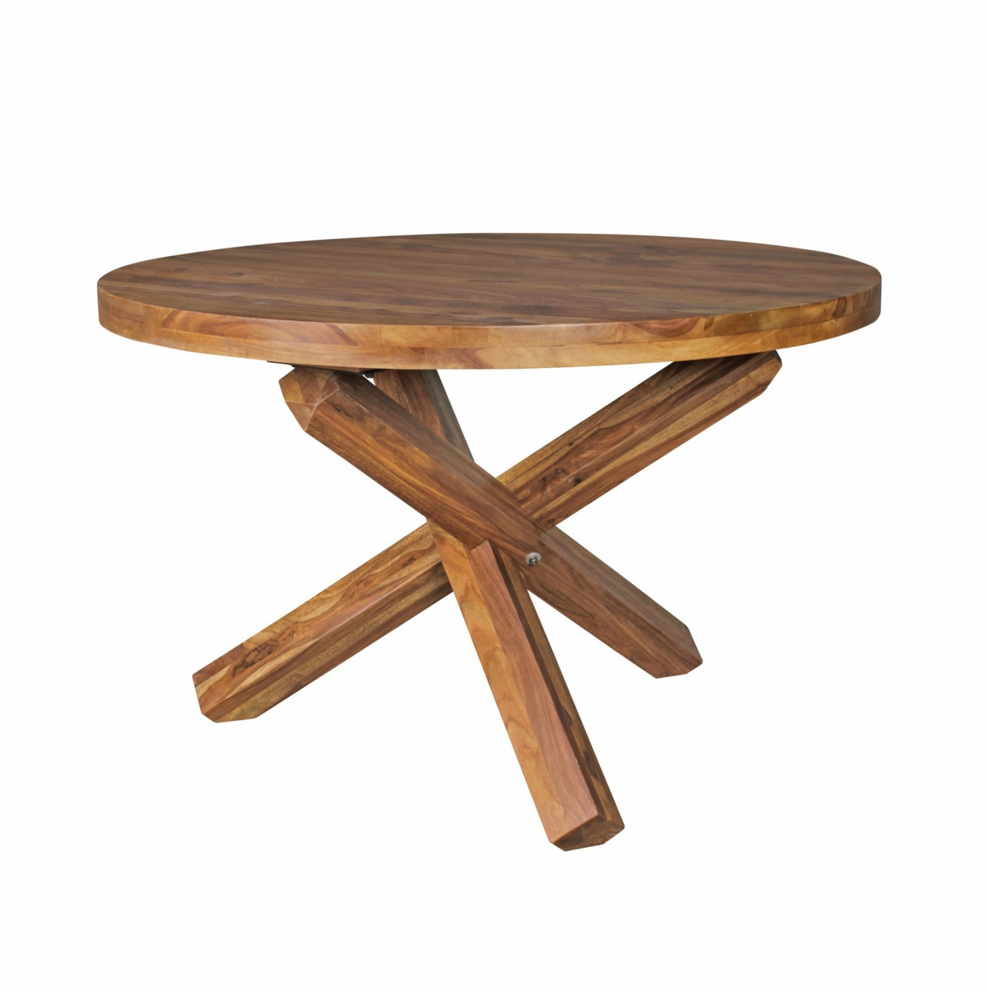 Jídelní stůl Boha kulatý, 120 cm, masiv Sheesham