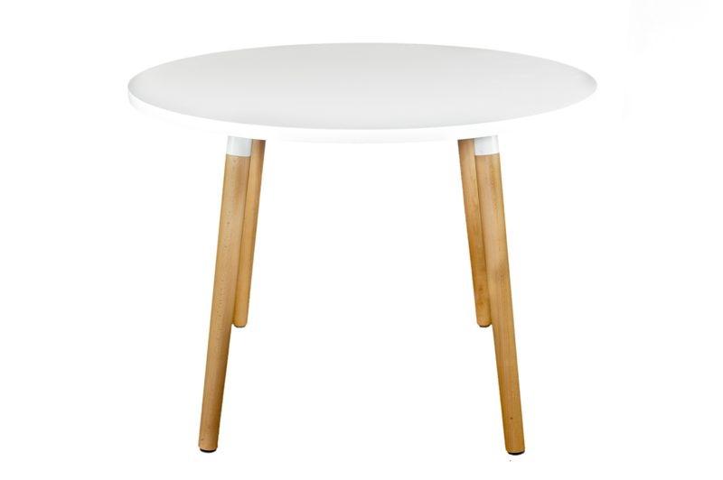 Jídelní stůl Clara kulatý, 100 cm, bílá