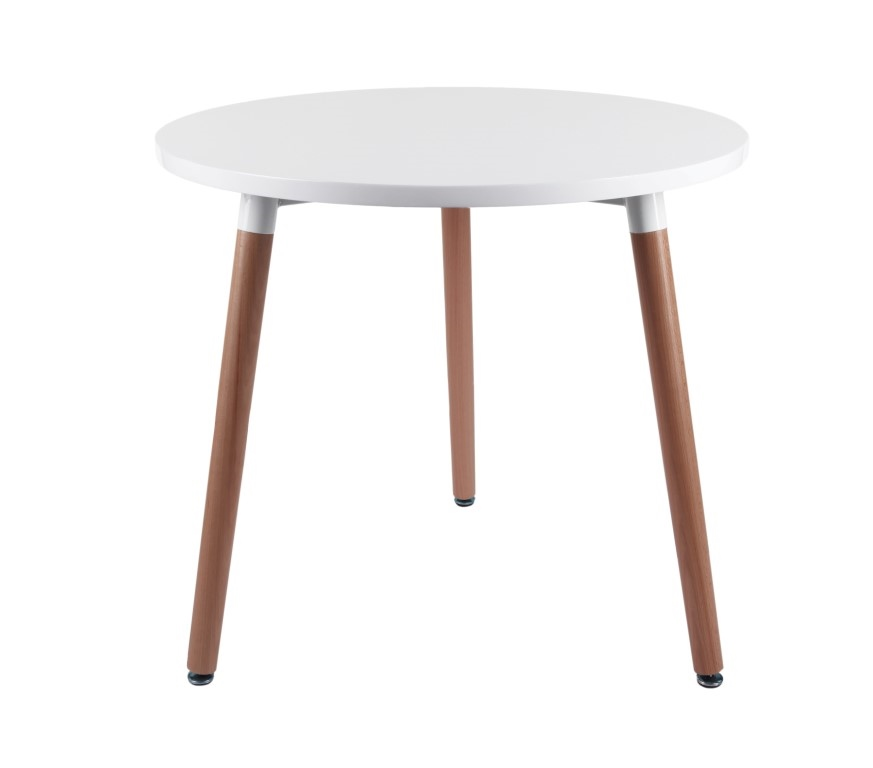 Jídelní stůl Clara kulatý, 80 cm, bílá