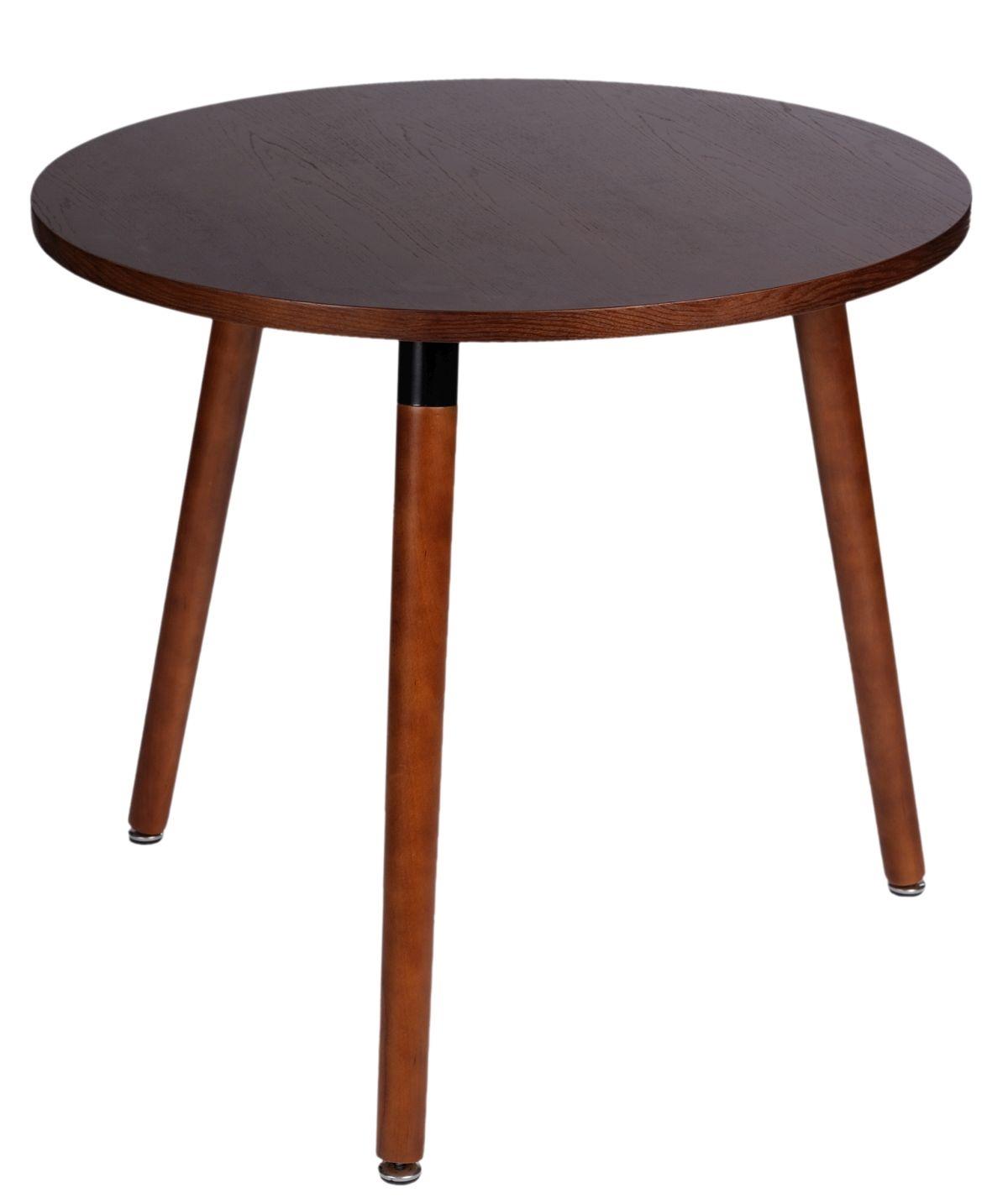 Jídelní stůl Clara kulatý, 80 cm, ořech