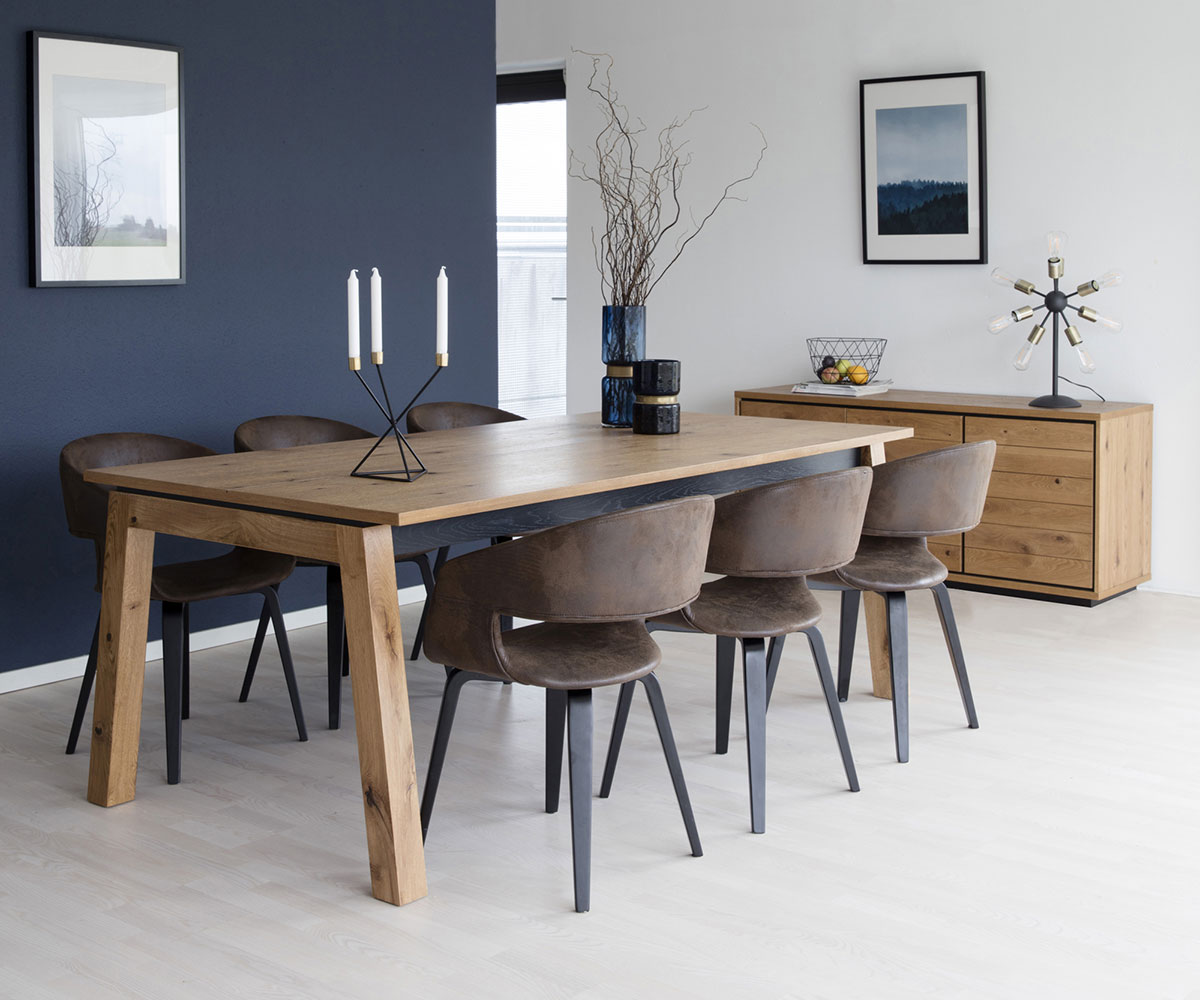 j deln st l dayton 200 cm divok dub design discount. Black Bedroom Furniture Sets. Home Design Ideas