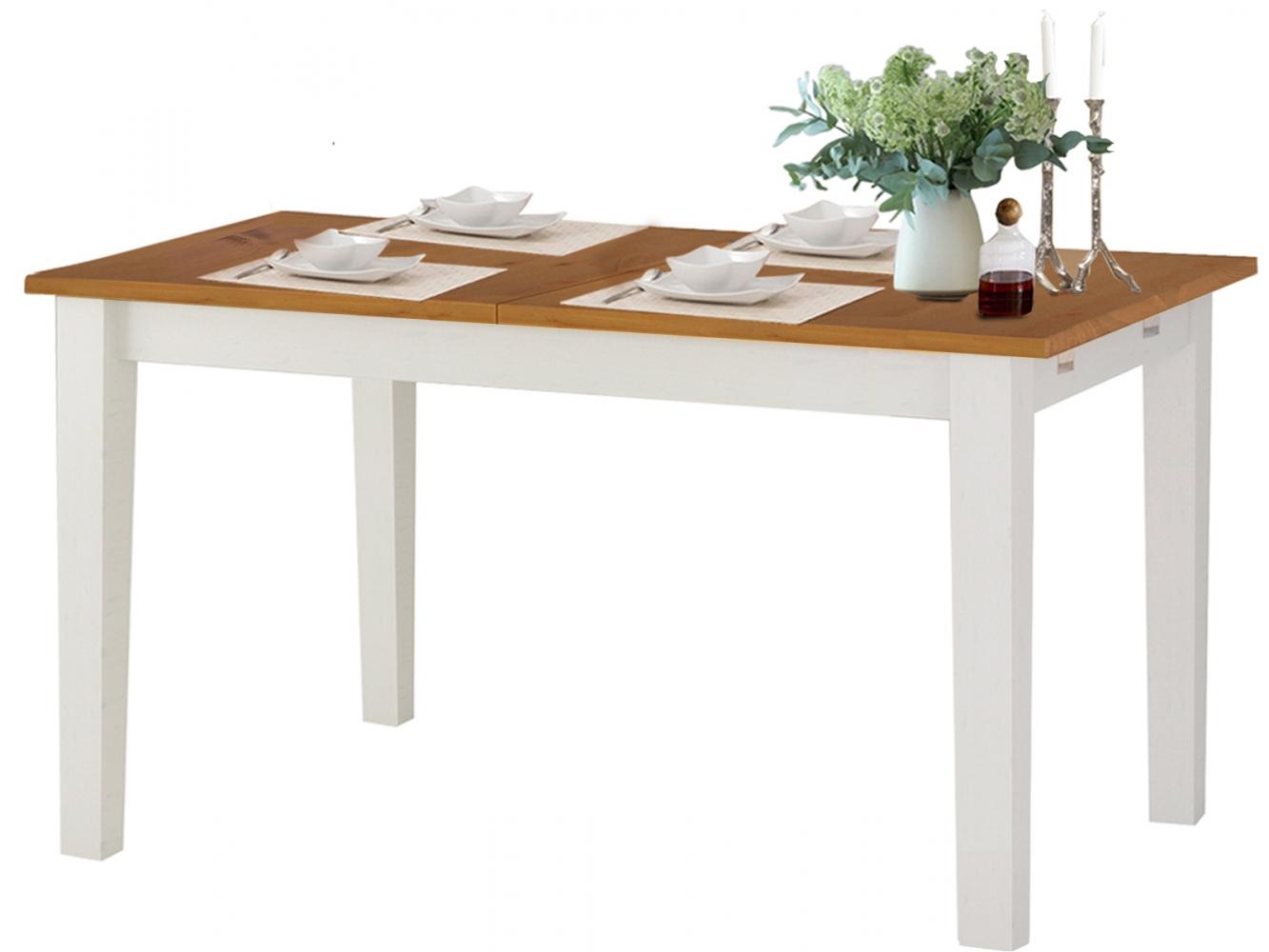 Jídelní stůl Disa, 160 cm, bílá / borovice