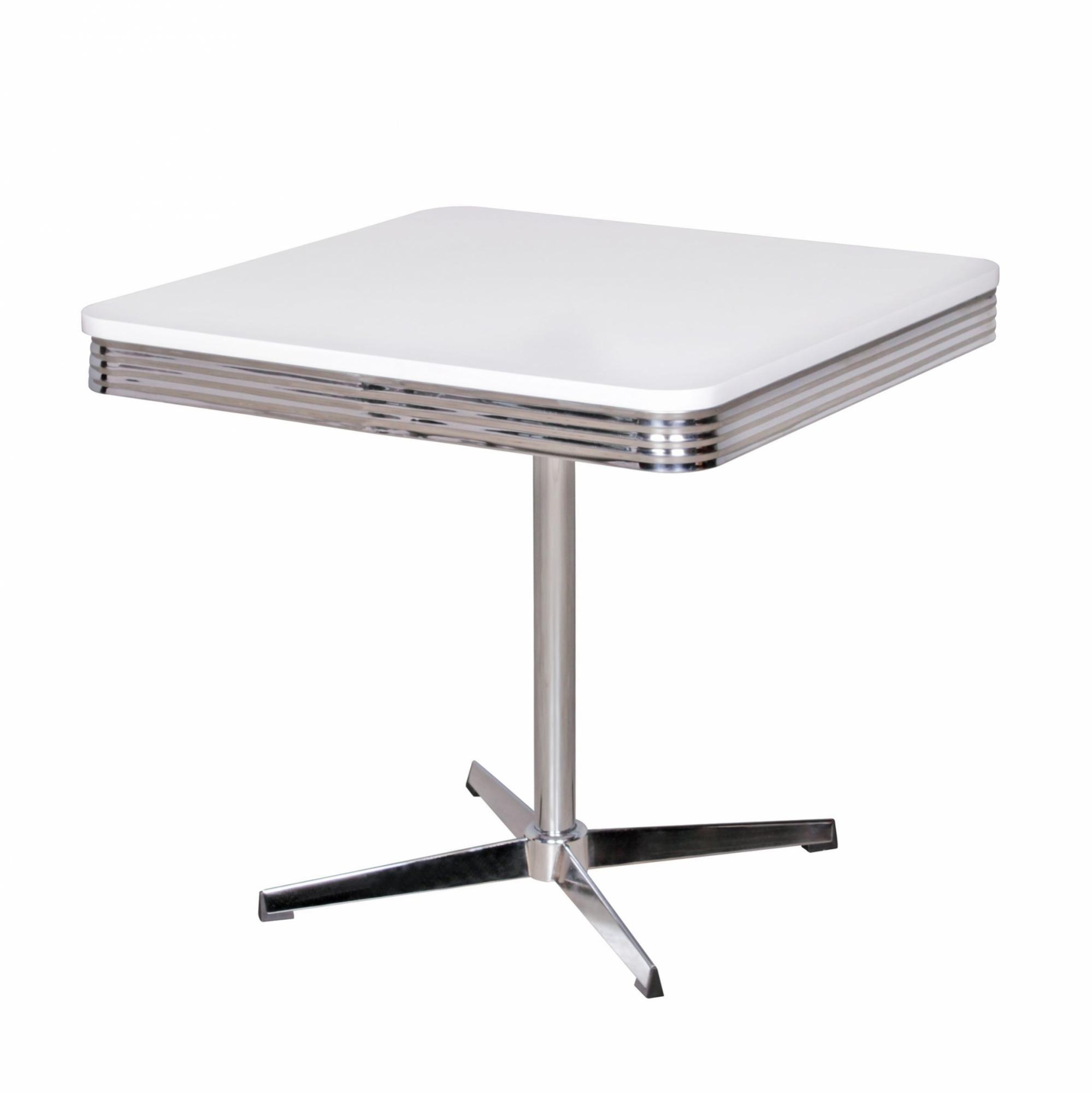 Jídelní stůl Elvis, 80 cm, bílá