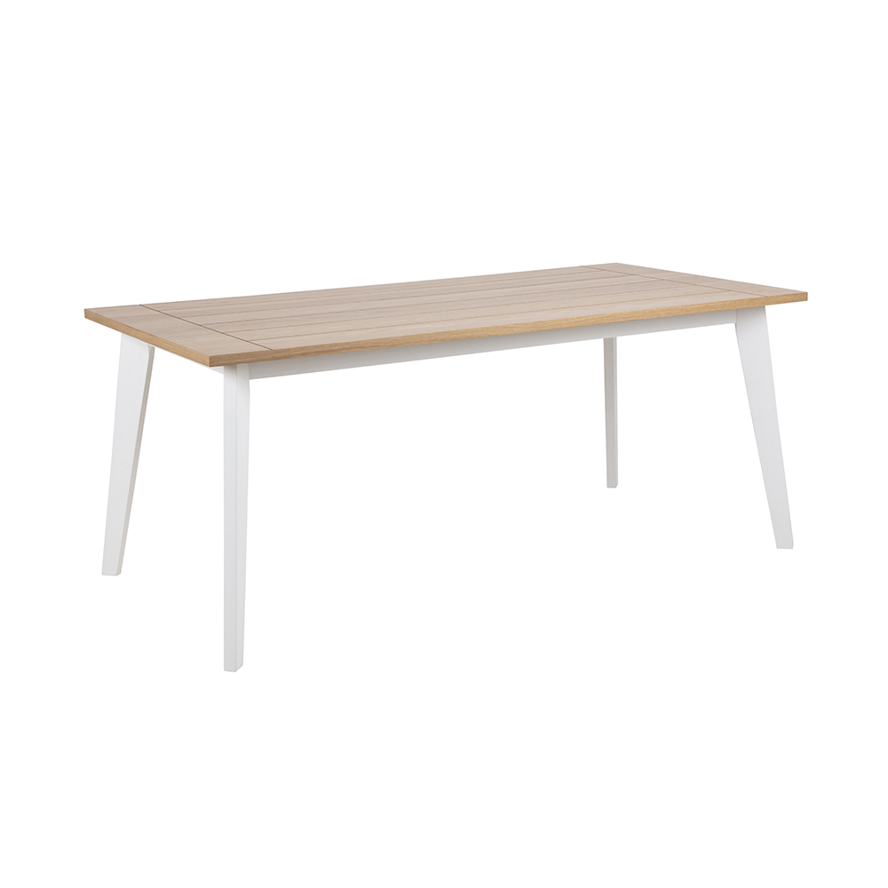 Jídelní stůl Foyle, 180 cm, dub/bílá