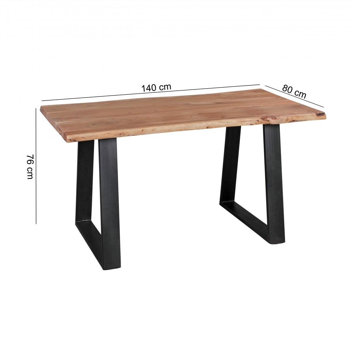 Jídelní stůl Gaya, 140 cm, masiv akát