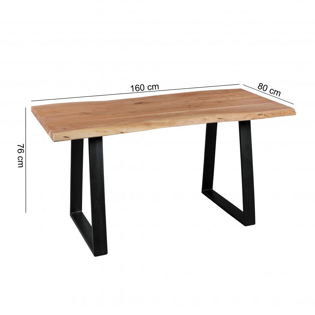 Jídelní stůl Gaya, 160 cm, masiv akát
