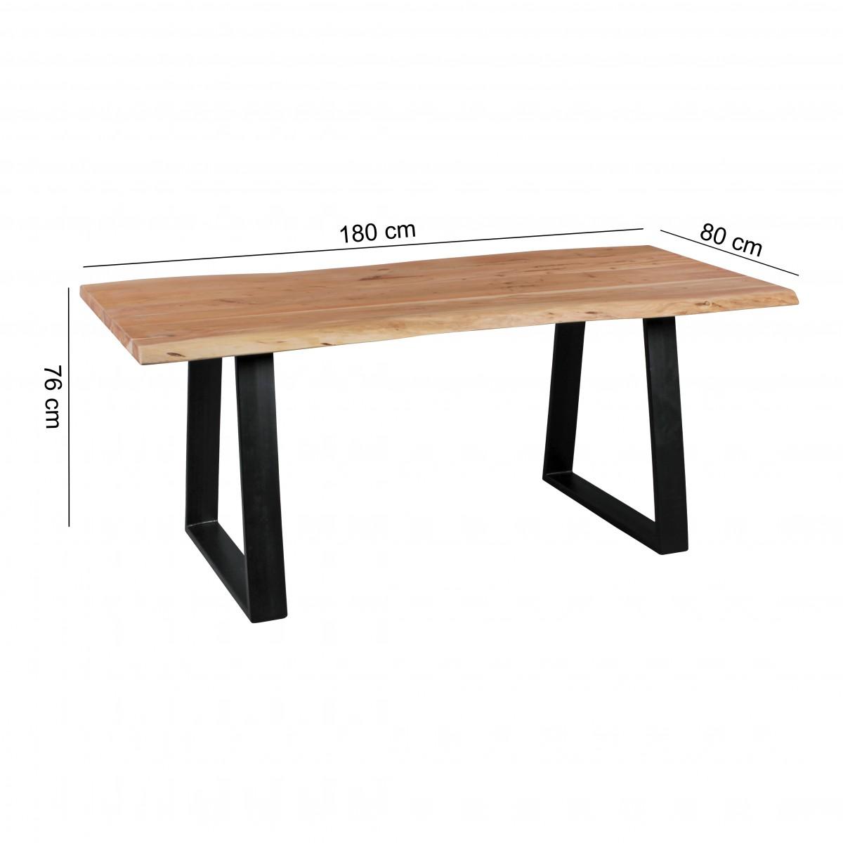 Jídelní stůl Gaya, 180 cm, masiv akát