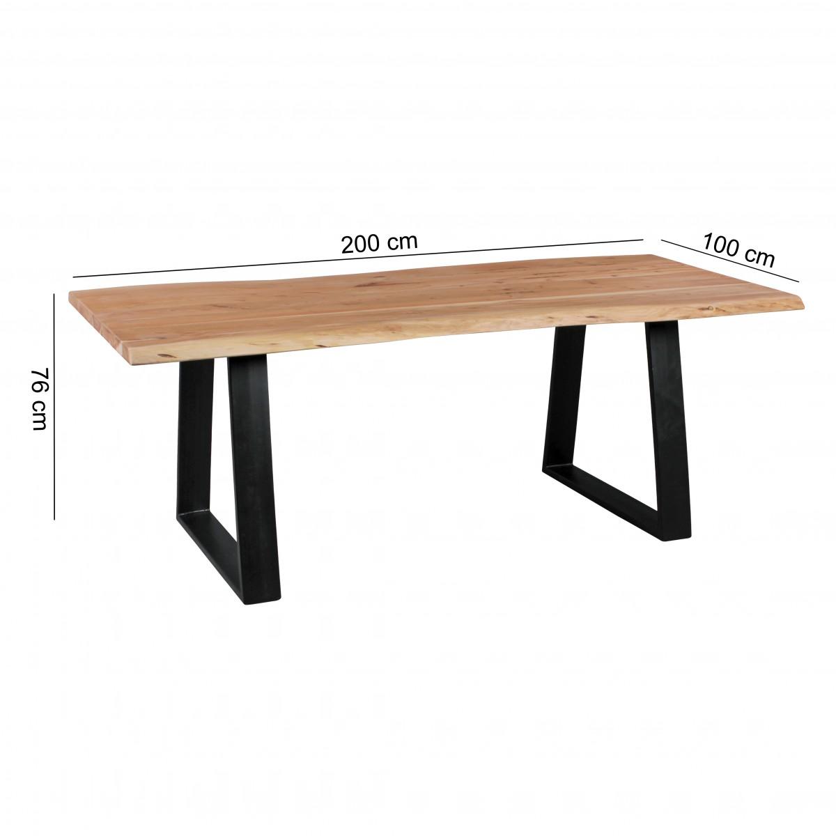 Jídelní stůl Gaya, 200 cm, masiv akát
