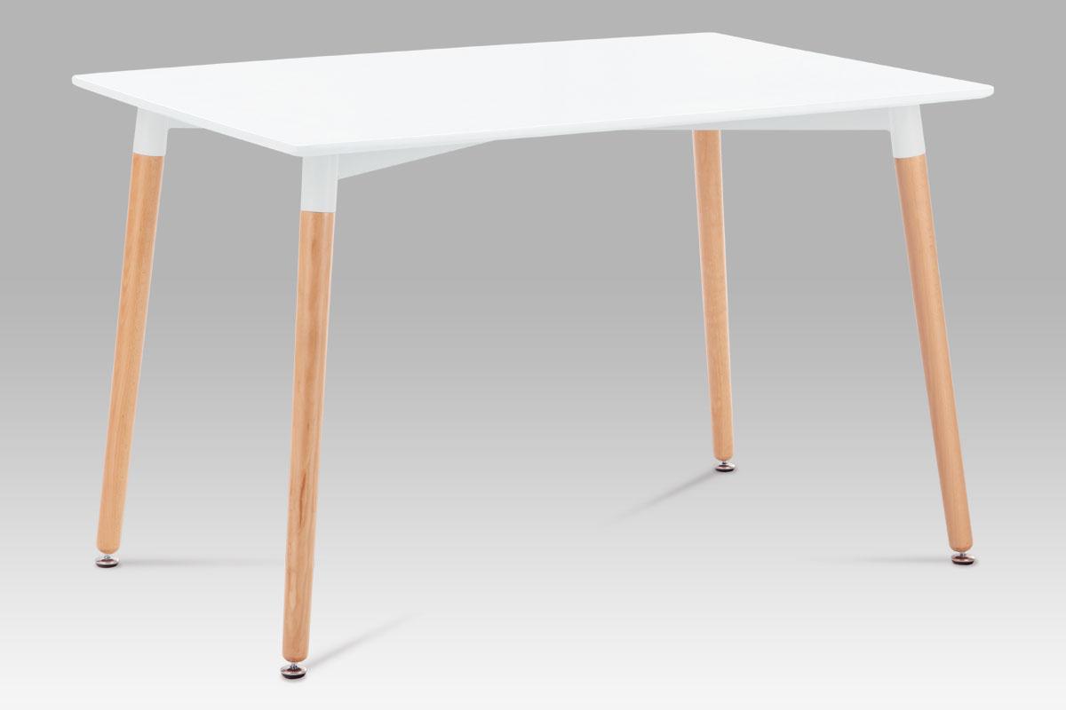 Jídelní stůl Ilja, 120 cm, bílá/buk