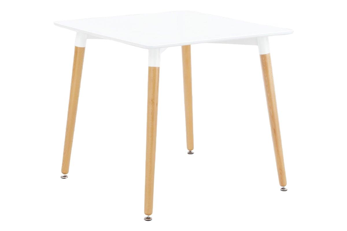 Jídelní stůl Ilja, 80 cm, bílá/buk