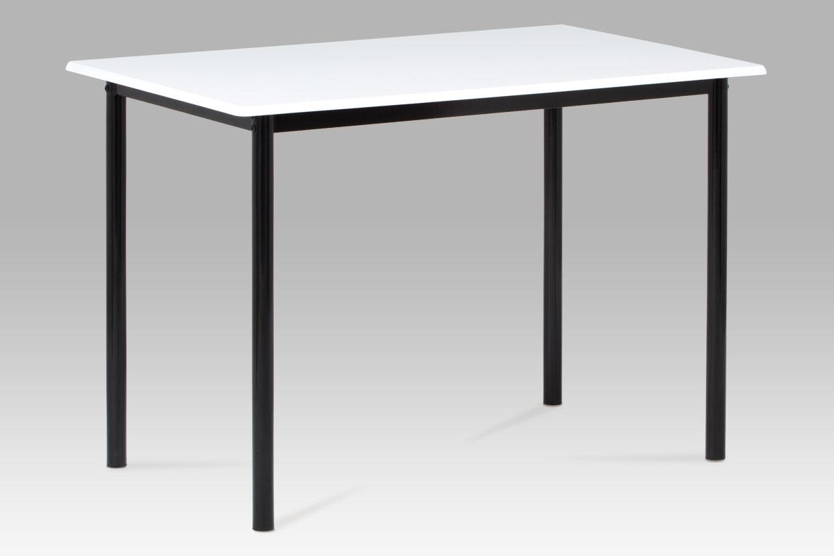 Jídelní stůl Justina, 110 cm, bílá/černá