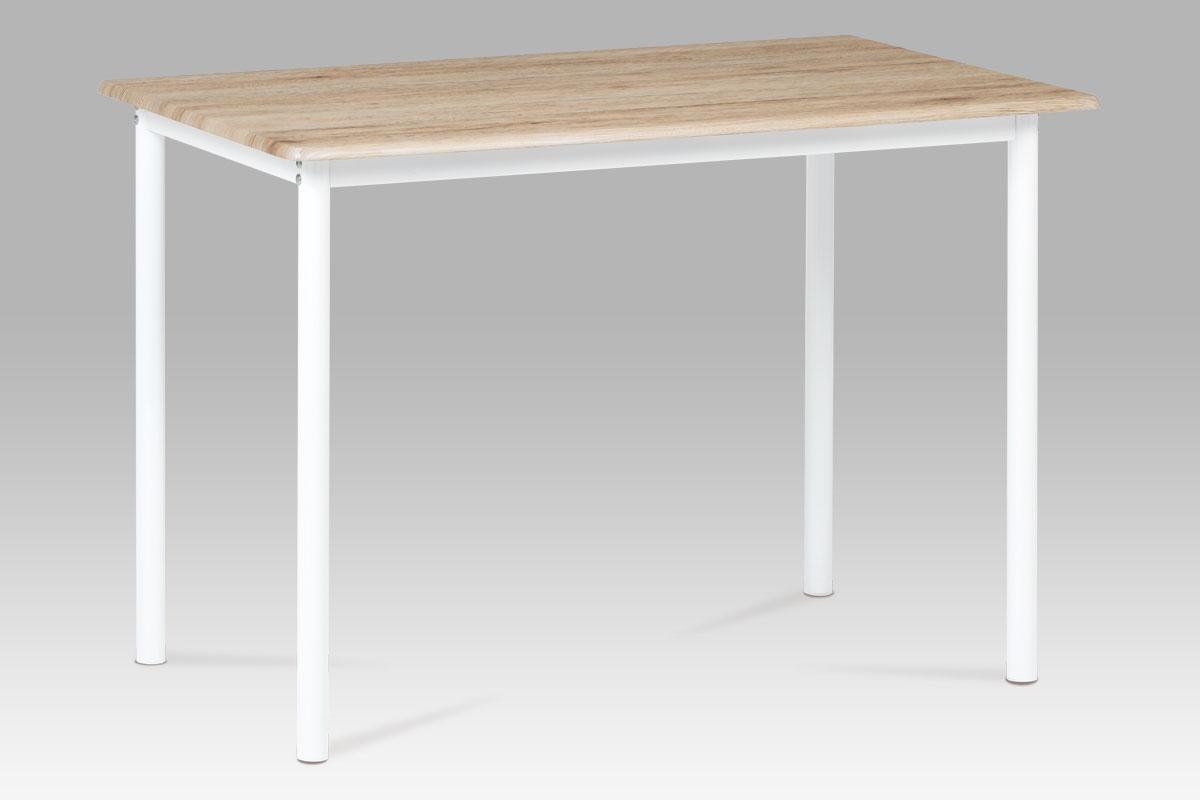 Jídelní stůl Justina, 110 cm, San remo/bílá