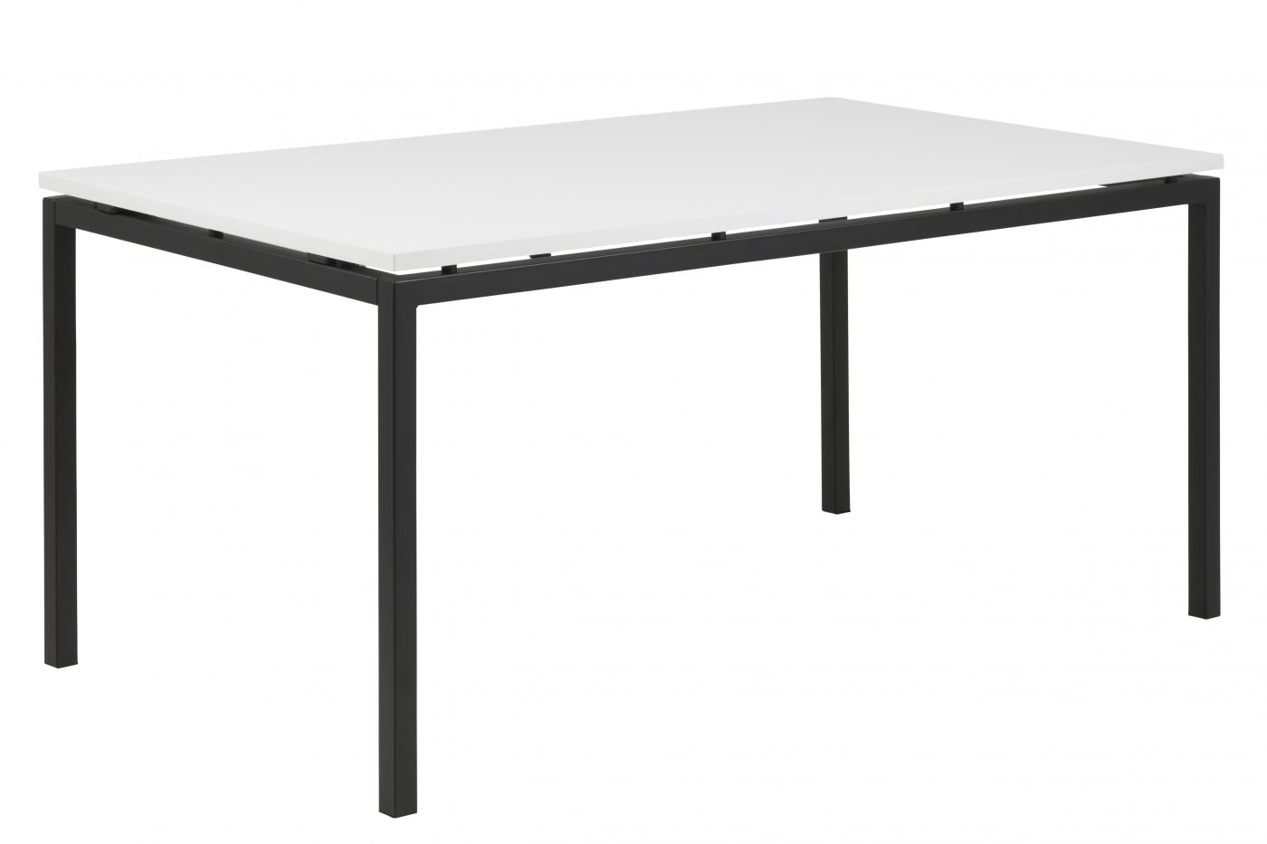Jídelní stůl Kolba, 160 cm, bílý / kov