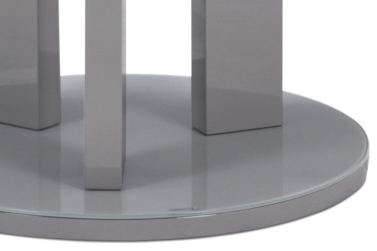 Jídelní stůl kulatý Judita, 108 cm, šedá
