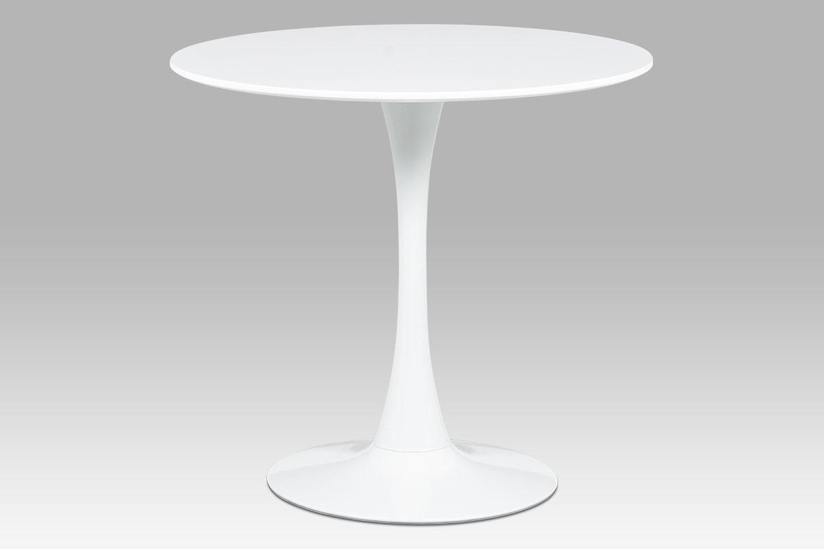 Jídelní stůl kulatý Klaudia, 80 cm, bílá