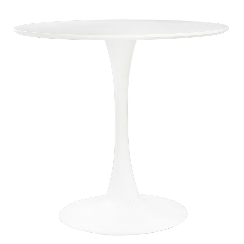 Jídelní stůl kulatý Mager, 90 cm, bílá