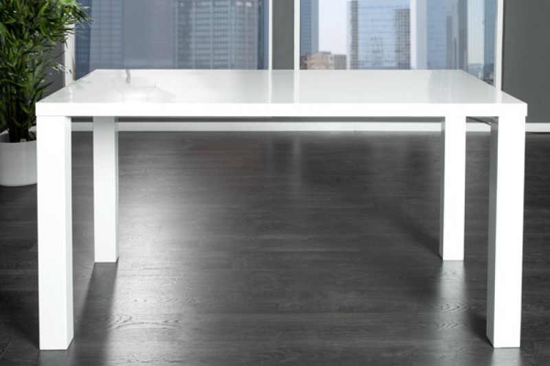Jídelní stůl Laura, 140 cm, bílá