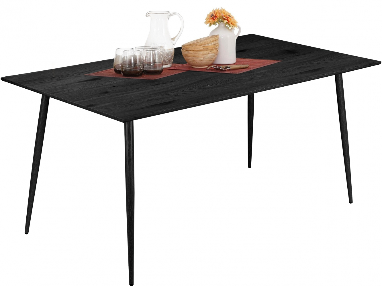 Jídelní stůl Lion, 160 cm, černá