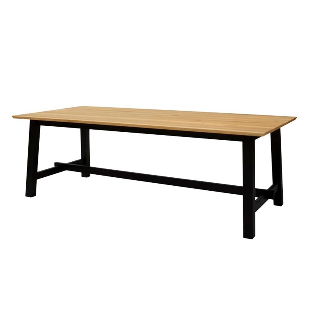 Jídelní stůl Lisboa, 220 cm, černá/dub