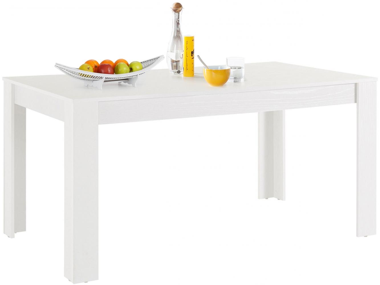 Jídelní stůl Lora I., 160 cm, bílá