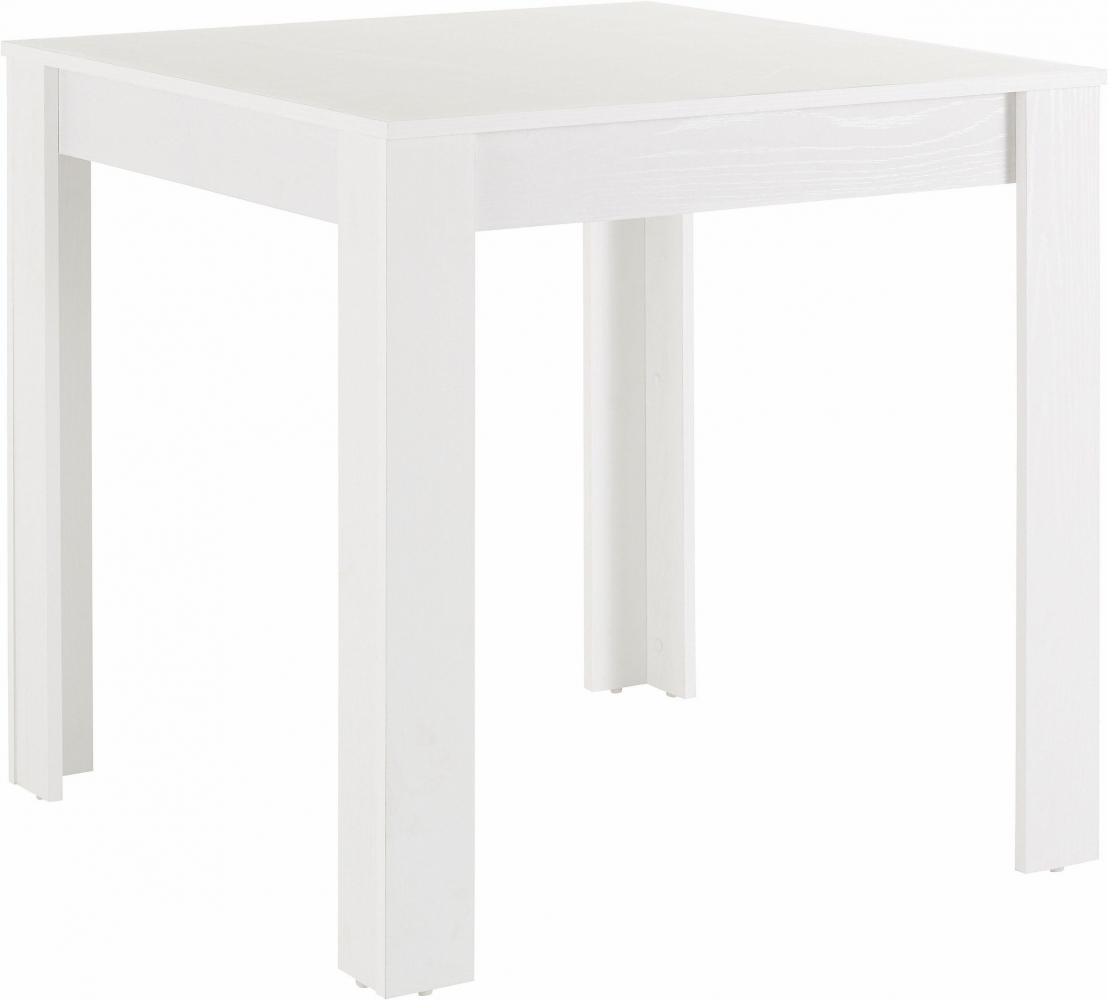 Jídelní stůl Lora I., 80 cm, bílá