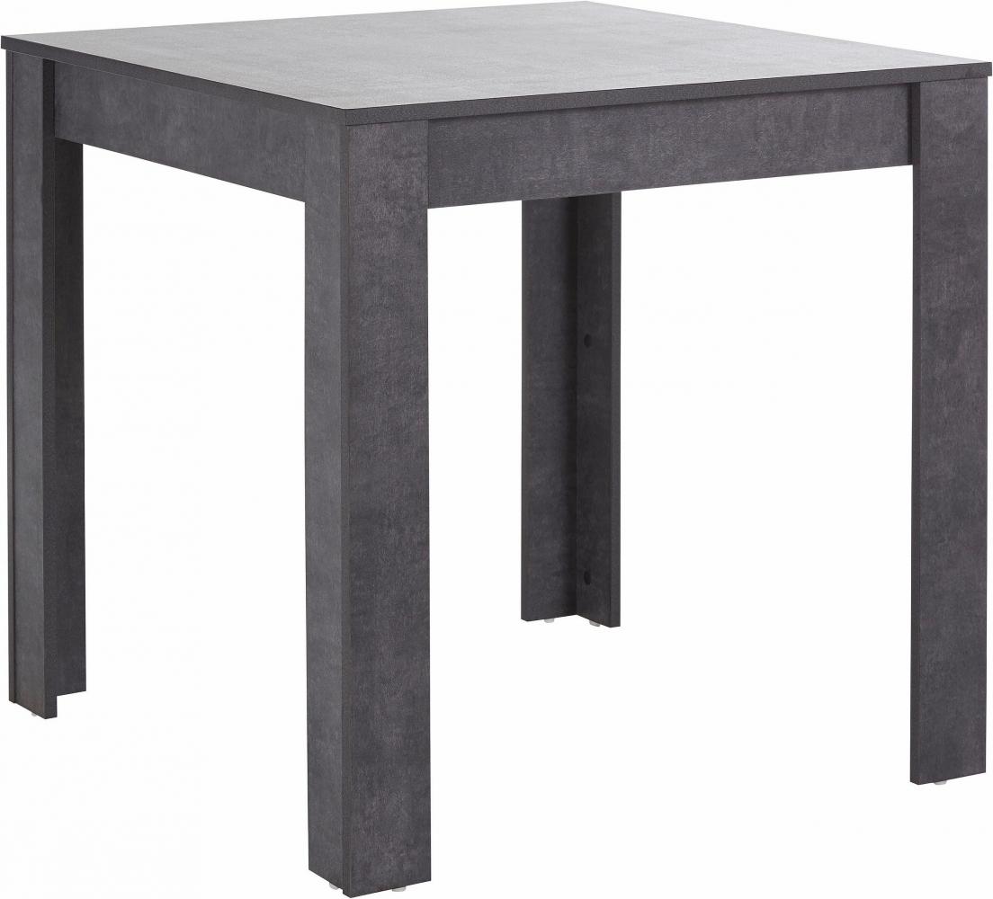 Jídelní stůl Lora I., 80 cm, pohledový beton
