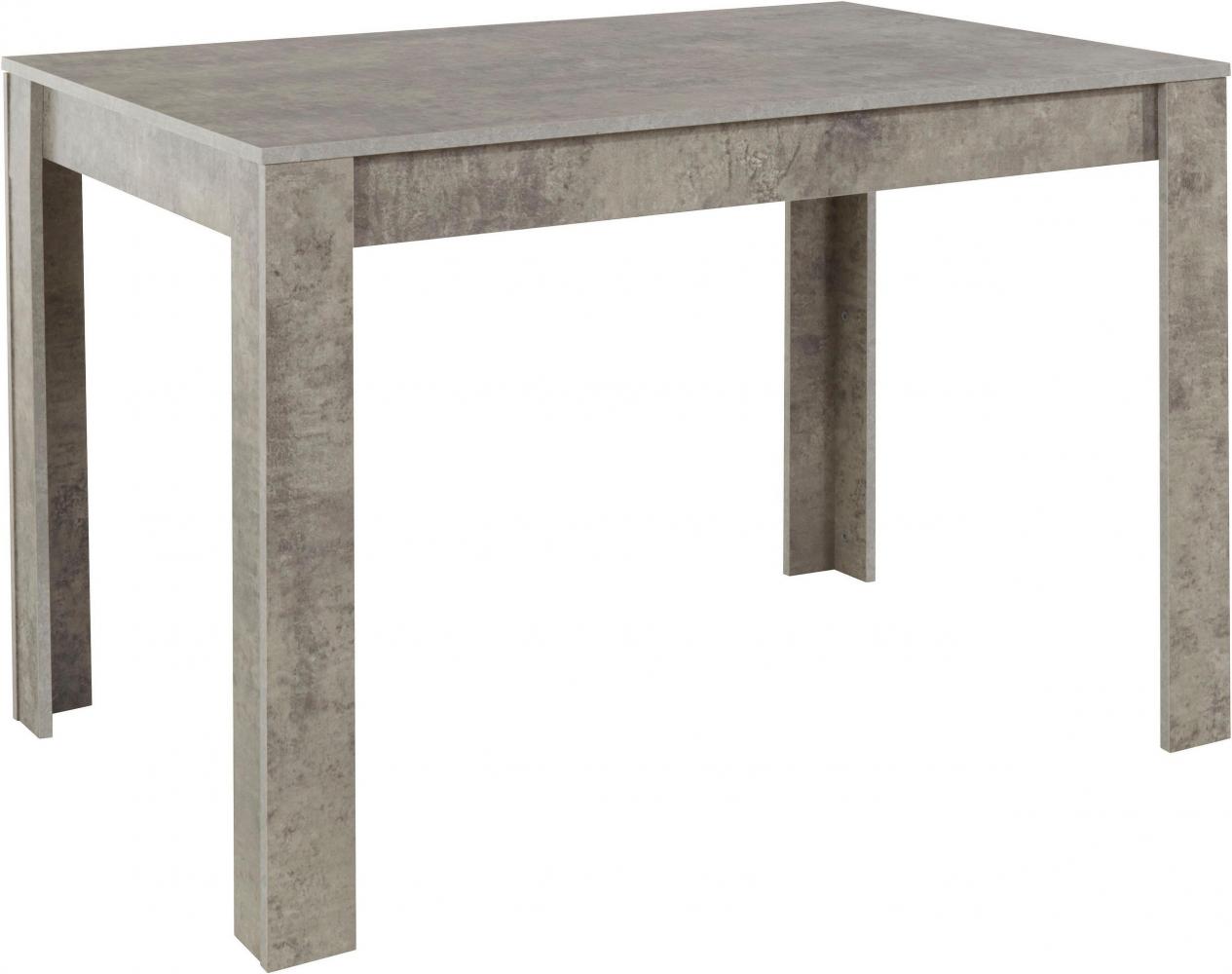 Jídelní stůl Lora II., 120 cm, pohledový beton