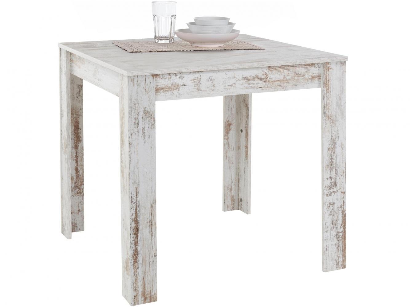 Jídelní stůl Lora II., 80 cm, bílá
