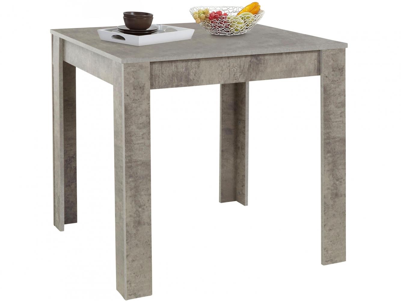 Jídelní stůl Lora II., 80 cm, pohledový beton