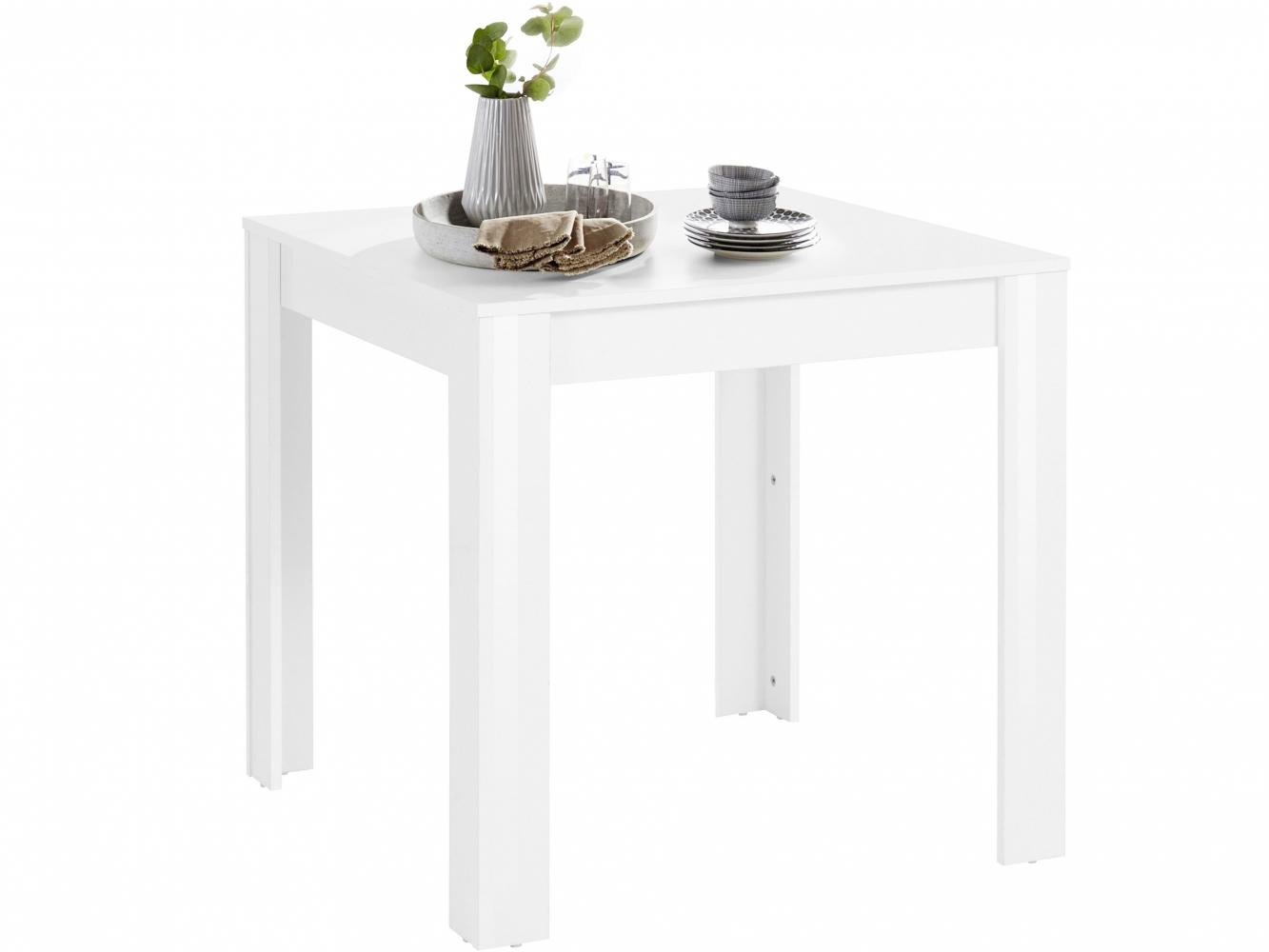 Jídelní stůl Lynet, 80 cm, bílá