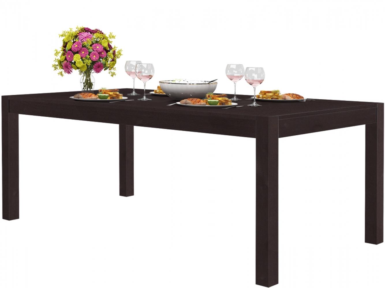 Jídelní stůl Moni, 200 cm, tmavě hnědá
