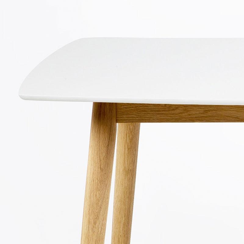 Jídelní stůl Nagy, 150 cm, bílá/dub