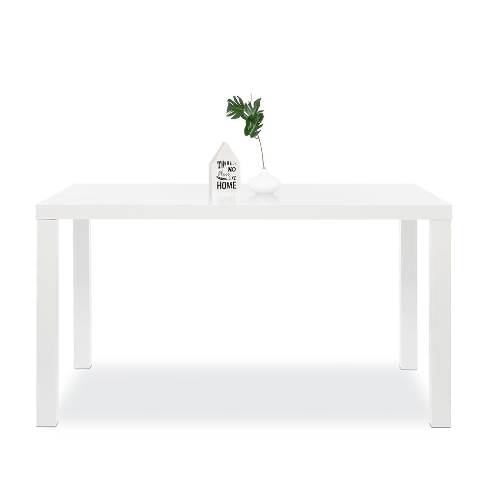 Jídelní stůl Priscilla, 140 cm, bílá mat